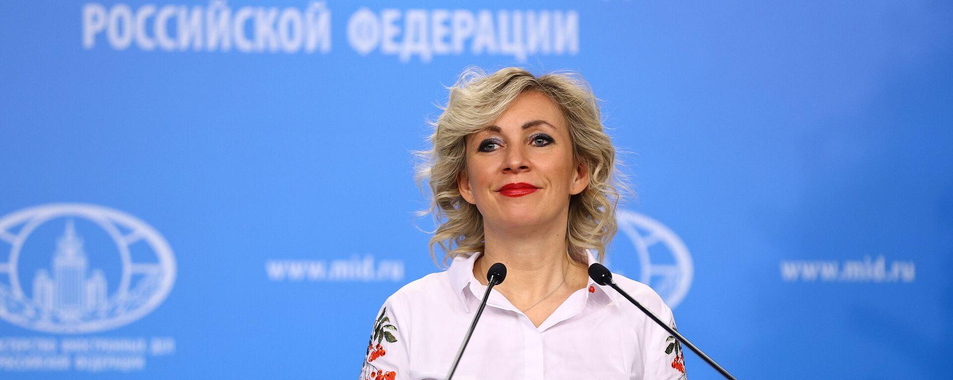 María Zajárova, portavoz del ministerio de Asuntos Exteriores de Rusia - Sputnik Mundo, 1920, 09.03.2021