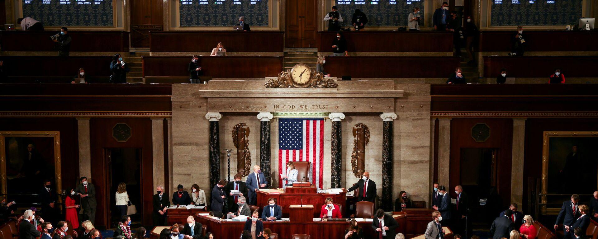 La 117 sesión del Congreso de EEUU  - Sputnik Mundo, 1920, 05.01.2021
