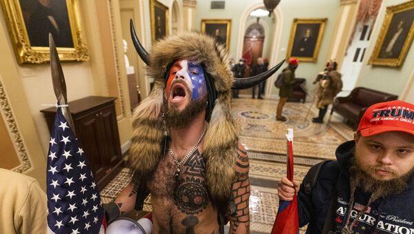 Manifestantes en el Capitolio - Sputnik Mundo
