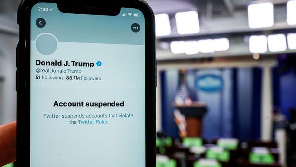 La cuenta de Donald Trump en Twitter - Sputnik Mundo