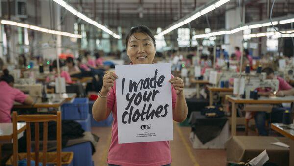 Campaña de conciencia sobre la producción textil - Sputnik Mundo