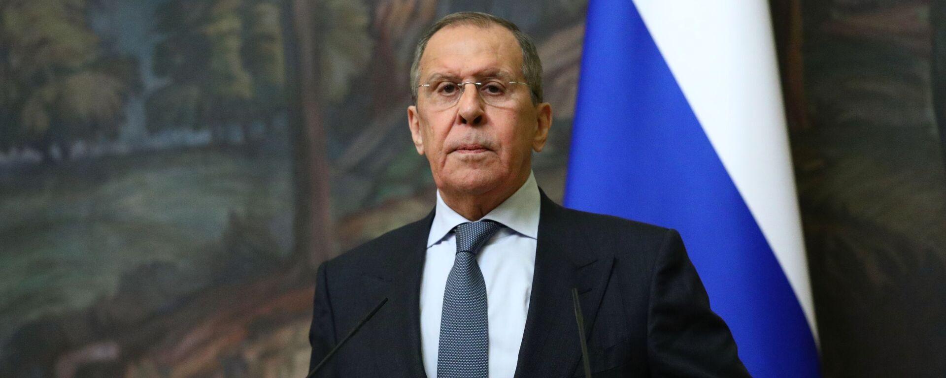 El ministro de Relaciones Exteriores de Rusia Sergéi Lavrov - Sputnik Mundo, 1920, 02.02.2021