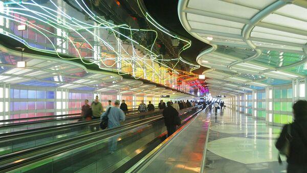 Aeropuerto de Chicago (imagen referencial) - Sputnik Mundo
