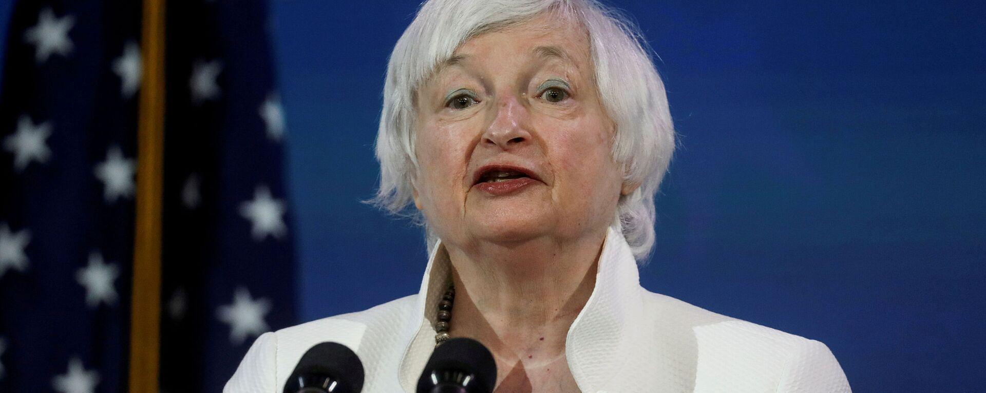 Janet Yellen, candidata a secretaria del Tesoro de Estados Unidos - Sputnik Mundo, 1920, 11.03.2021