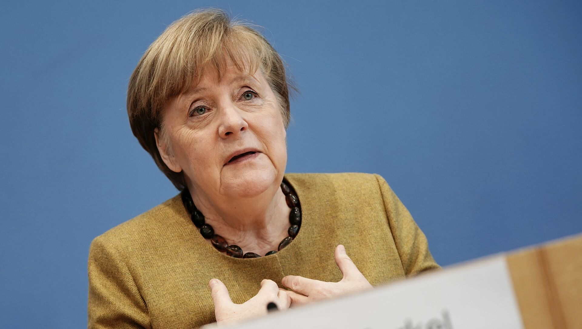 Angela Merkel, canciller alemana - Sputnik Mundo, 1920, 06.02.2021