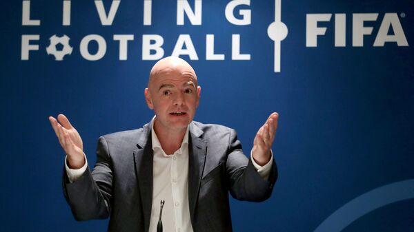 El presidente de la FIFA, Gianni Infantino - Sputnik Mundo
