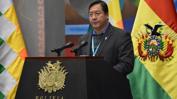 Luis Arce, el presidente de Bolivia - Sputnik Mundo