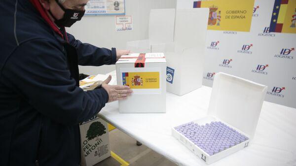 Imagen referencial de las vacunas recibidas en España - Sputnik Mundo