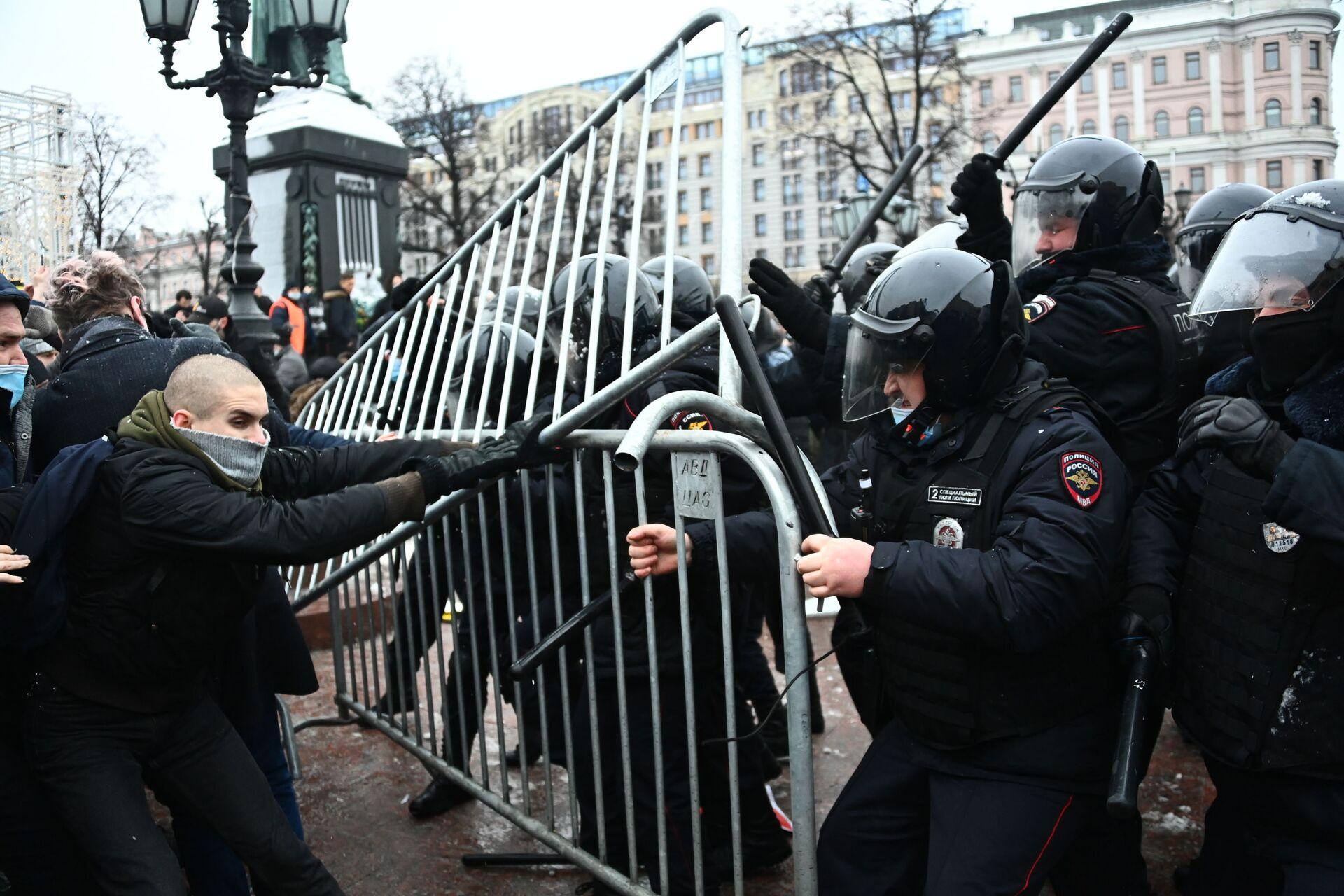 Protestas en Moscú el 23 de enero - Sputnik Mundo, 1920, 12.02.2021