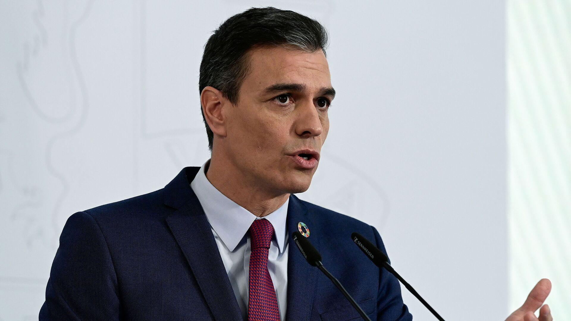 Pedro Sánchez, presidente del Gobierno de España - Sputnik Mundo, 1920, 15.02.2021