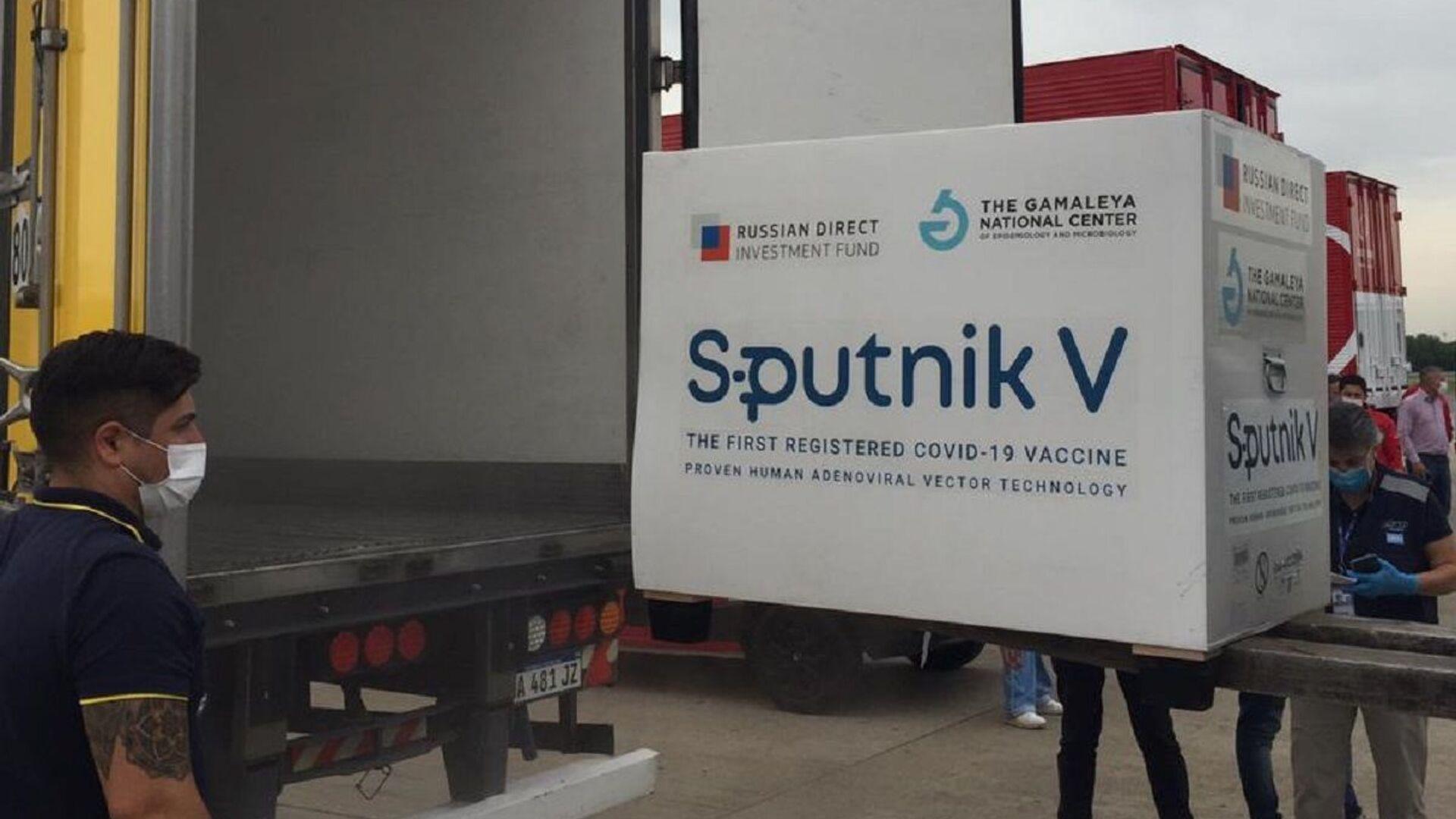 El avión con la vacuna rusa Sputnik V llega a Argentina - Sputnik Mundo, 1920, 09.03.2021