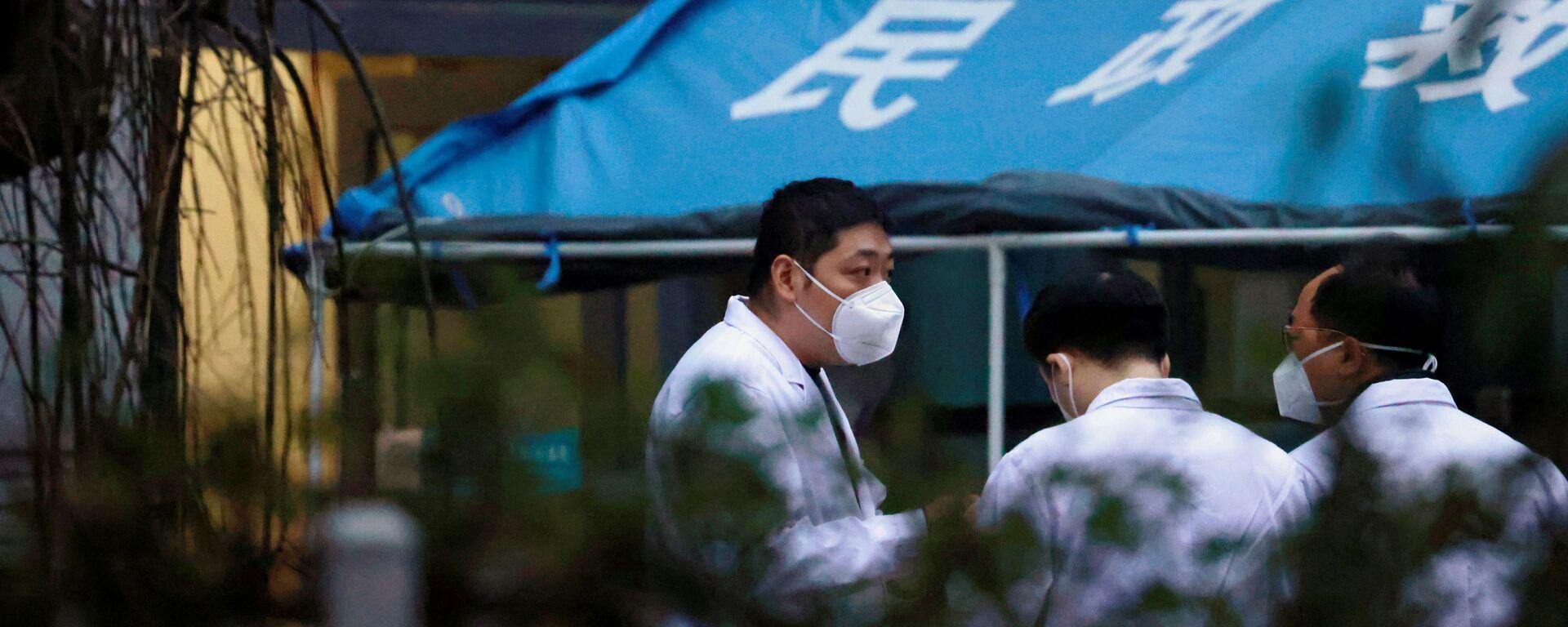 Expertos de la OMS en hospital de Wuhan - Sputnik Mundo, 1920, 30.01.2021