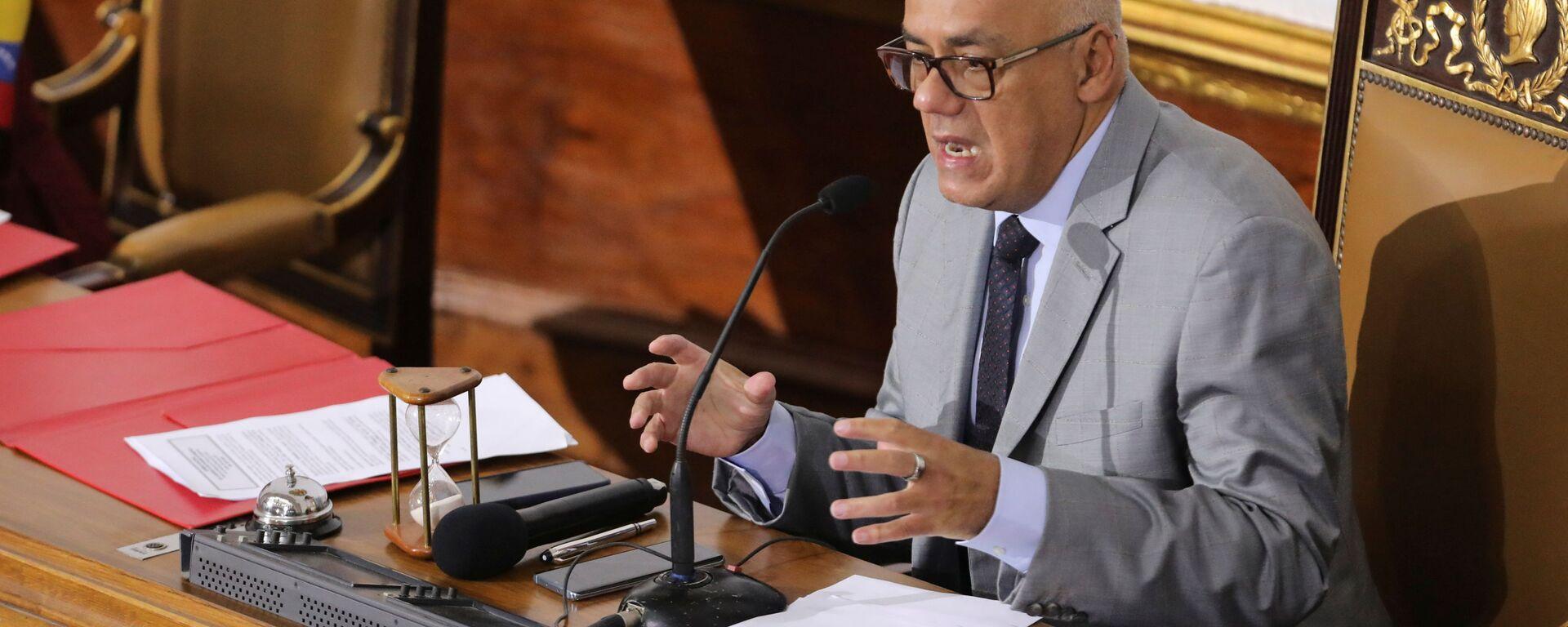 Jorge Rodríguez, presidente de la Asamblea Nacional de Venezuela - Sputnik Mundo, 1920, 10.10.2021