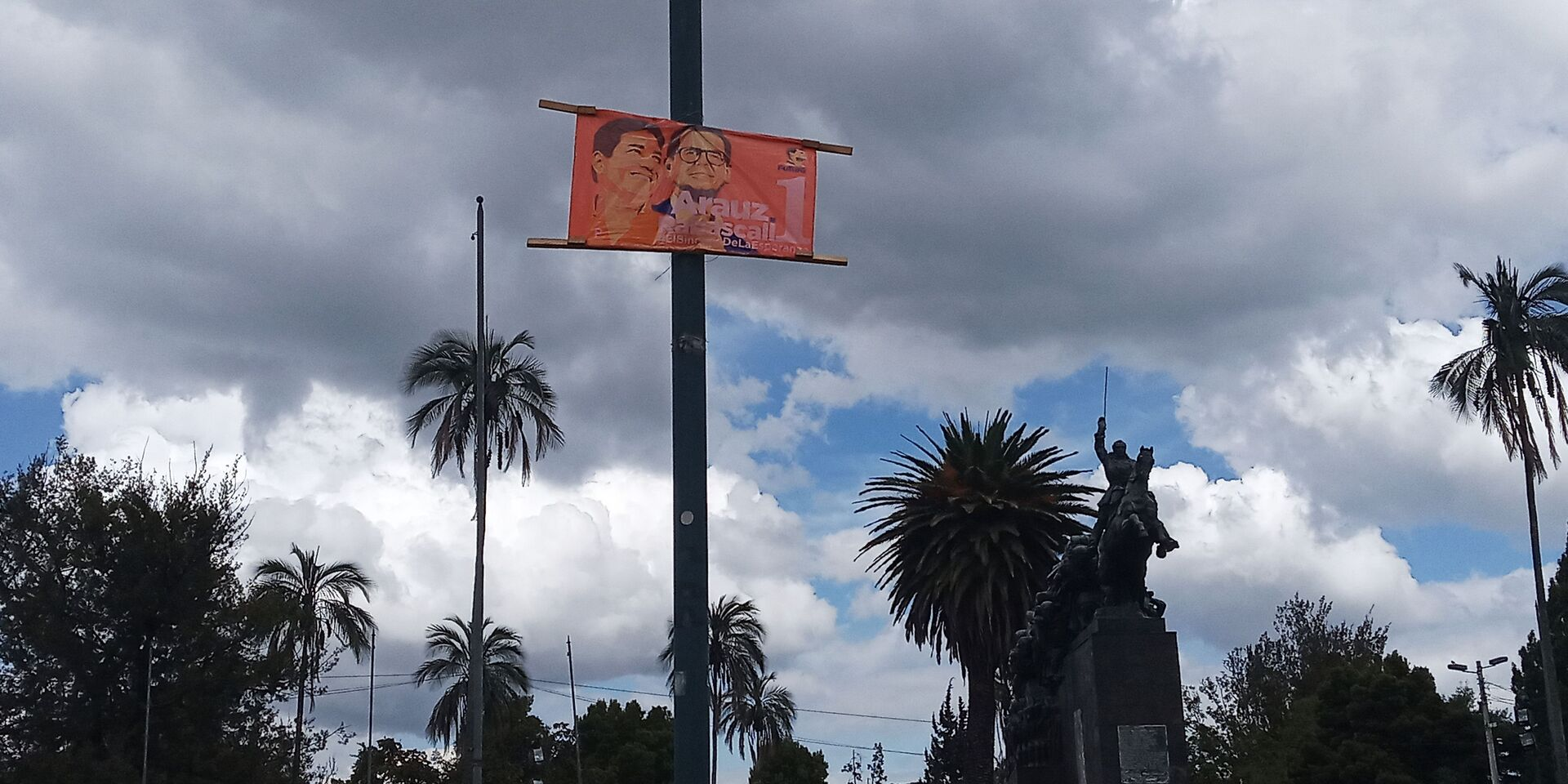 Afiche de campaña del binomio Arauz-Rabascall en Quito, Ecuador - Sputnik Mundo, 1920, 11.02.2021