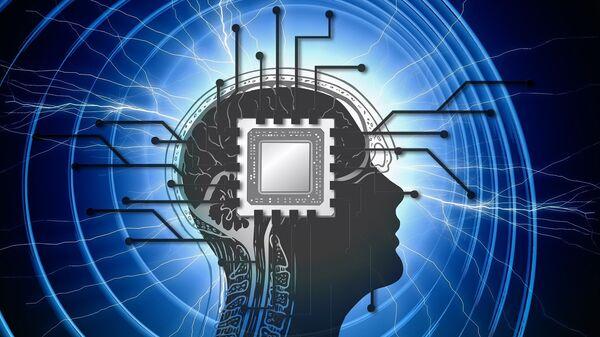 Un chip en el cerebro (imagen referencial) - Sputnik Mundo