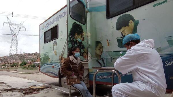 Rastrillaje y pruebas rápidas de COVID-19 en Cochabamba, Bolivia  - Sputnik Mundo