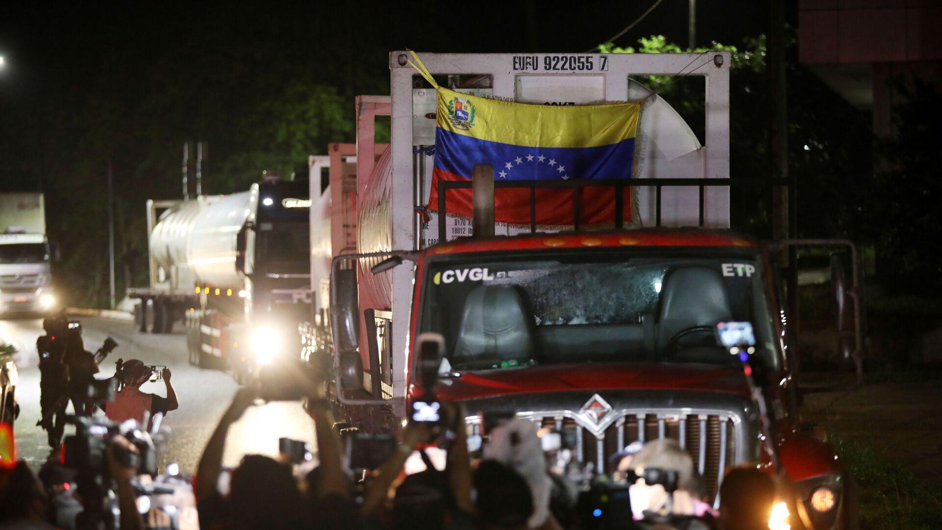Camiones de oxígeno de Venezuela van a Manaos, Brasil (Archivo) - Sputnik Mundo, 1920, 05.02.2021