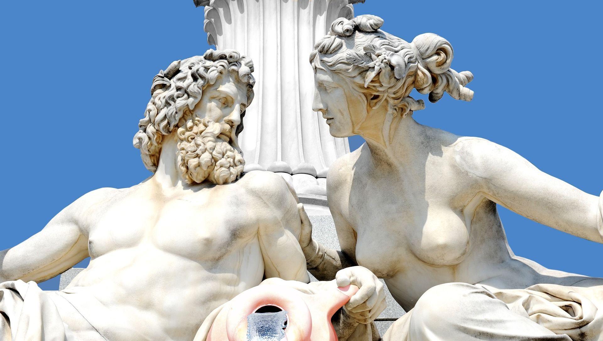 Las estatuas de dioses griegos (imagen referencial) - Sputnik Mundo, 1920, 06.02.2021
