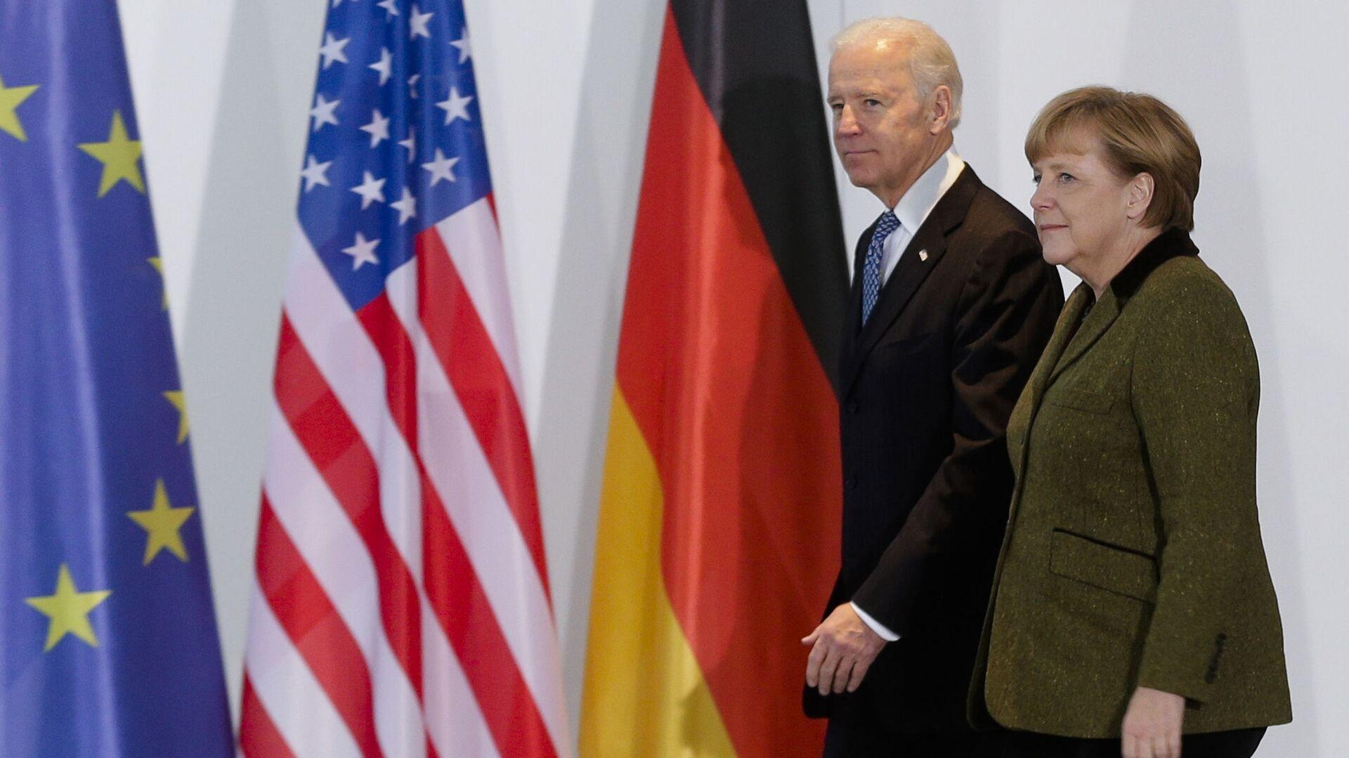 El presidente de EEUU, Joe Biden, y la canciller alemana, Ángela Merkel (archivo) - Sputnik Mundo, 1920, 06.02.2021