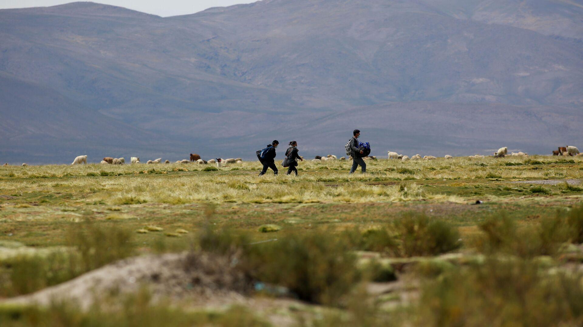 Migrantes en la frontera entre Chile y Bolivia - Sputnik Mundo, 1920, 23.03.2021