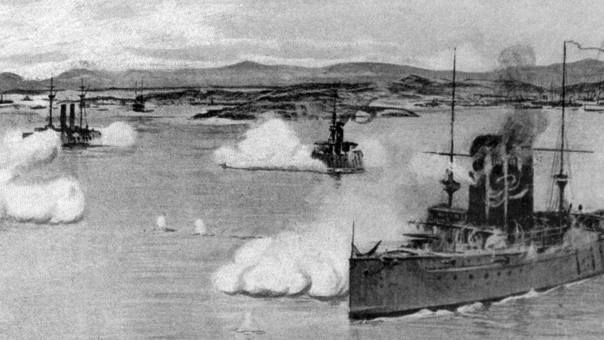 Variag y Koreets participan en una batalla naval contra los buques japoneses - Sputnik Mundo, 1920, 09.02.2021