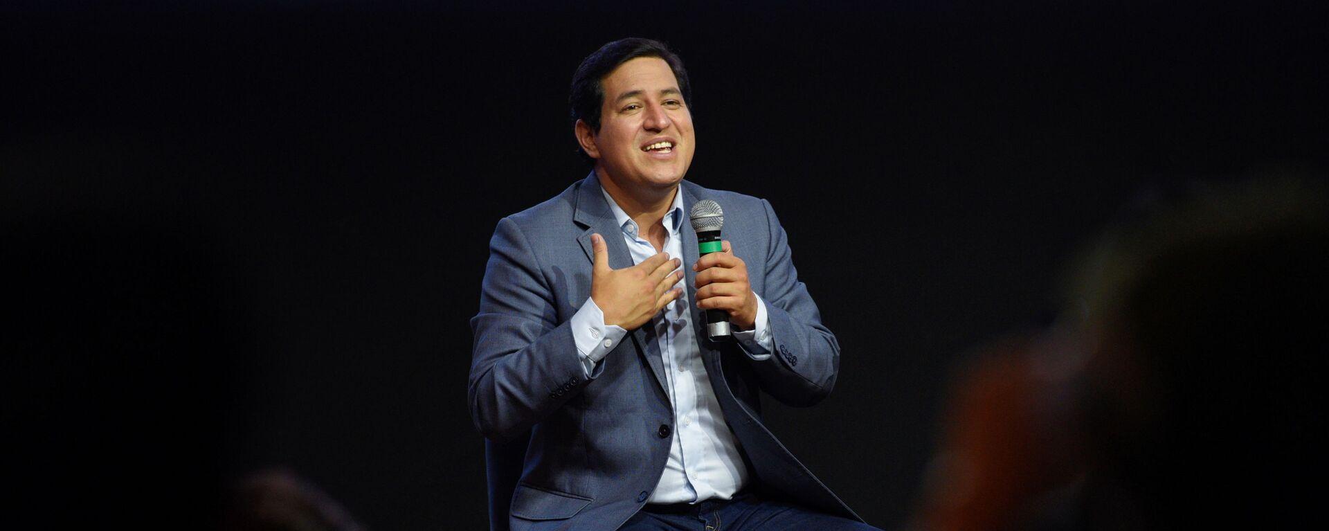 Andrés Arauz, candidato presidencial de la coalición Unión por la Esperanza (UNES) en Ecuador - Sputnik Mundo, 1920, 09.02.2021
