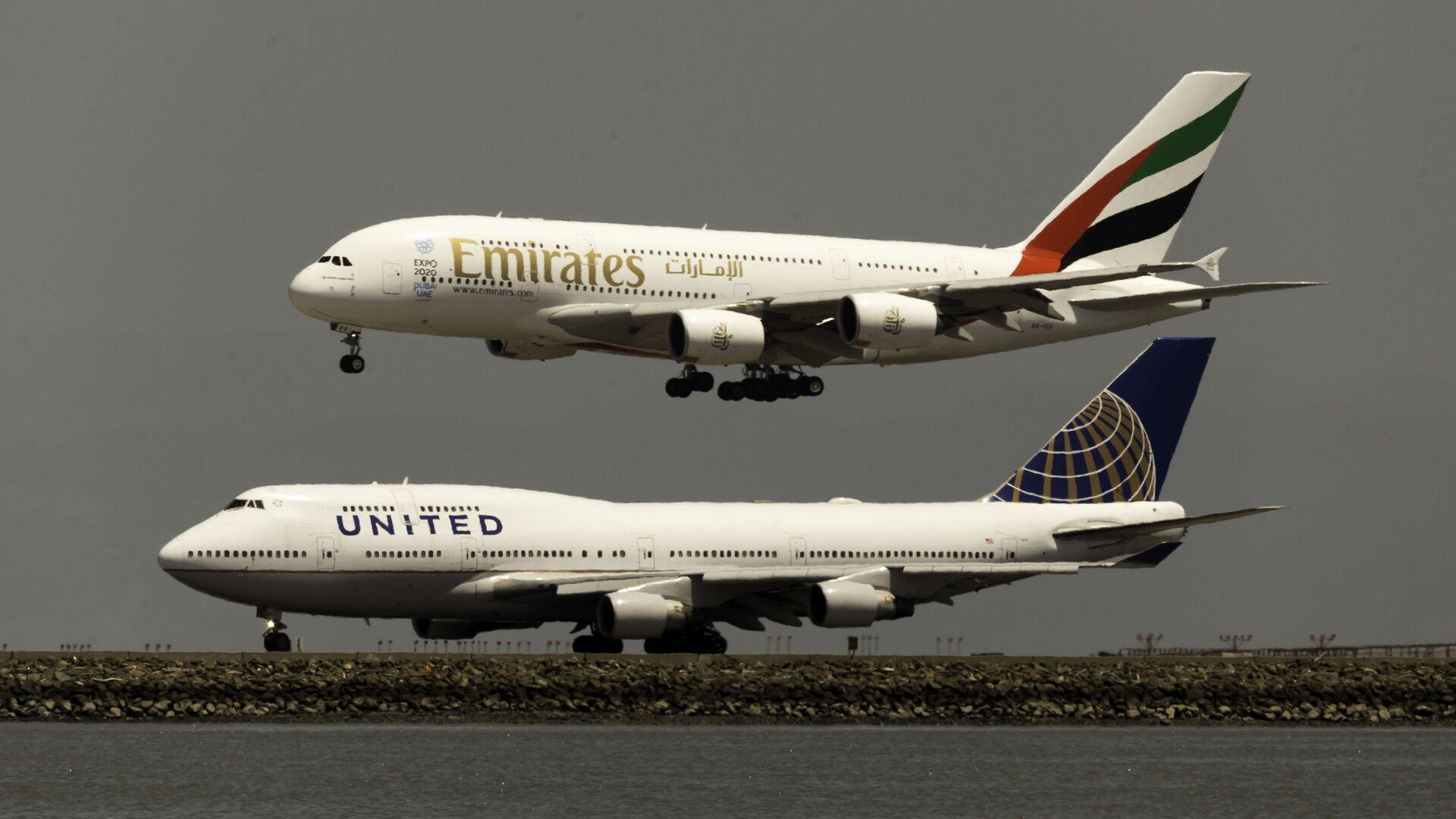 Un Airbus A380 y un Boeing 747 - Sputnik Mundo, 1920, 09.02.2021