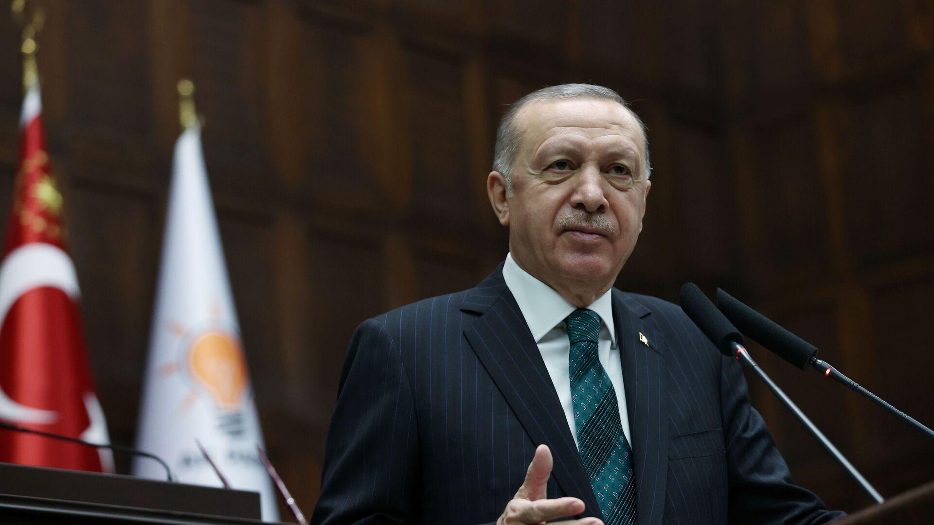 Recep Tayyip Erdogan, presidente de Turquía  - Sputnik Mundo, 1920, 10.02.2021
