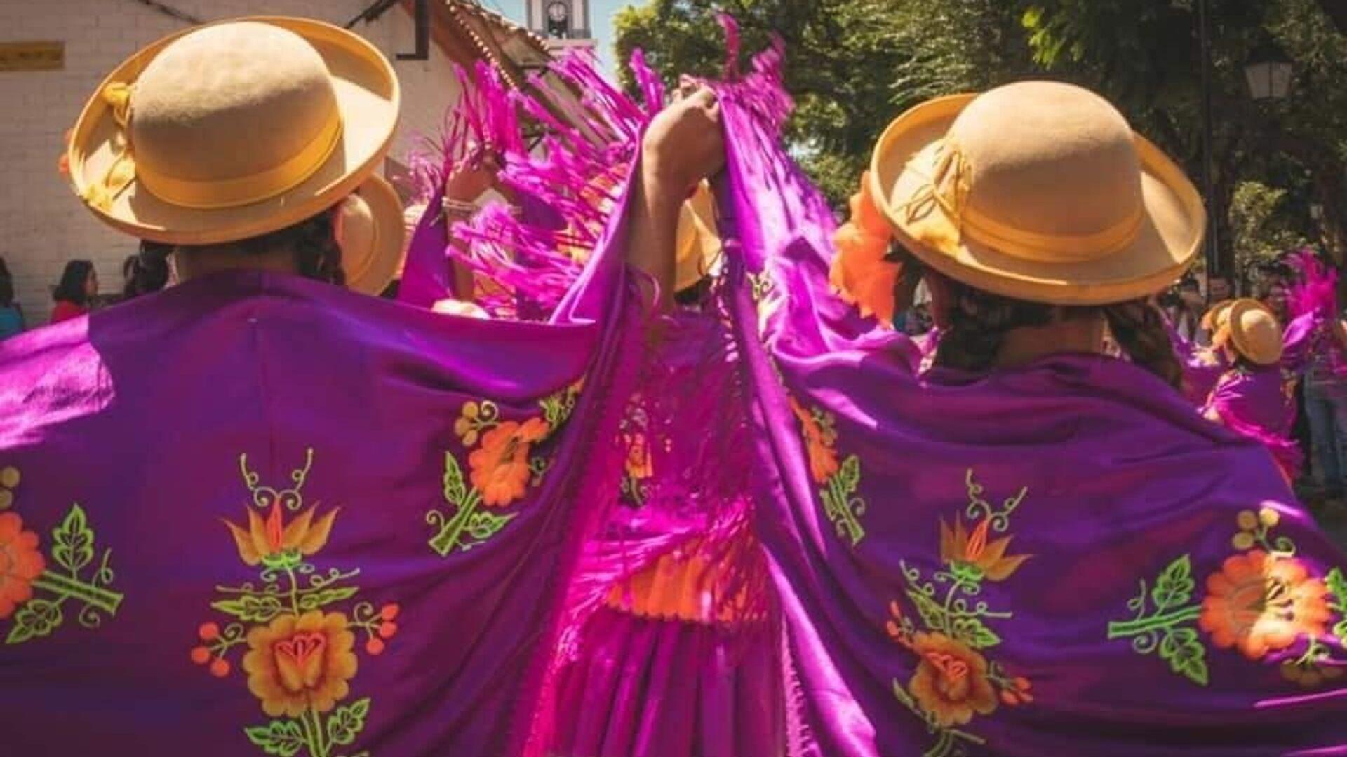 Celebración del Día de las Comadres en la ciudad de Tarija, Bolivia - Sputnik Mundo, 1920, 10.02.2021