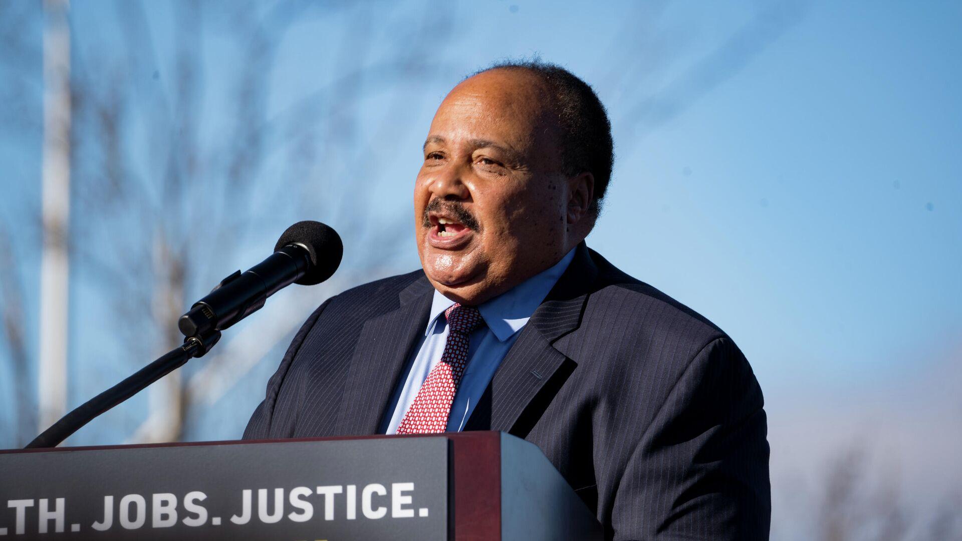 El activista pro derechos humanos Martin Luther King III, hijo del histórico líder defensor de los derechos de los afrodescendientes - Sputnik Mundo, 1920, 11.02.2021