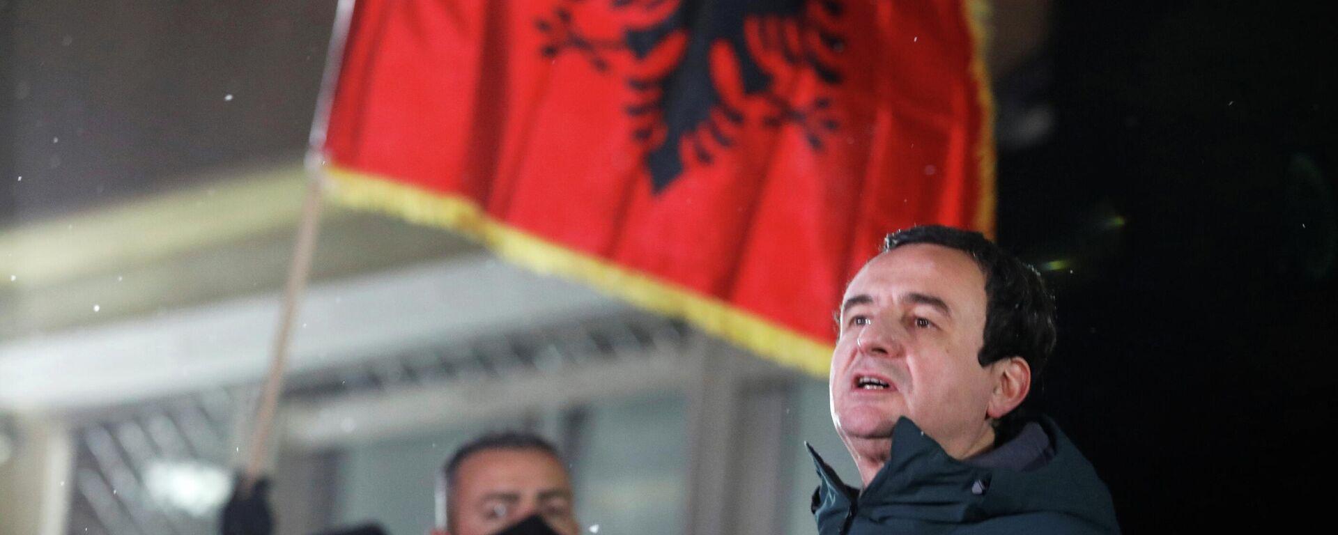 Albin Kurti, líder del partido Vetevendosje (Autodeterminación) de Kosovo - Sputnik Mundo, 1920, 15.02.2021