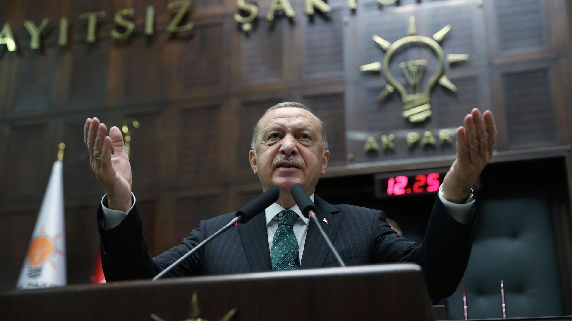 El presidente de Turquía, Recep Tayyip Erdogan - Sputnik Mundo, 1920, 15.02.2021
