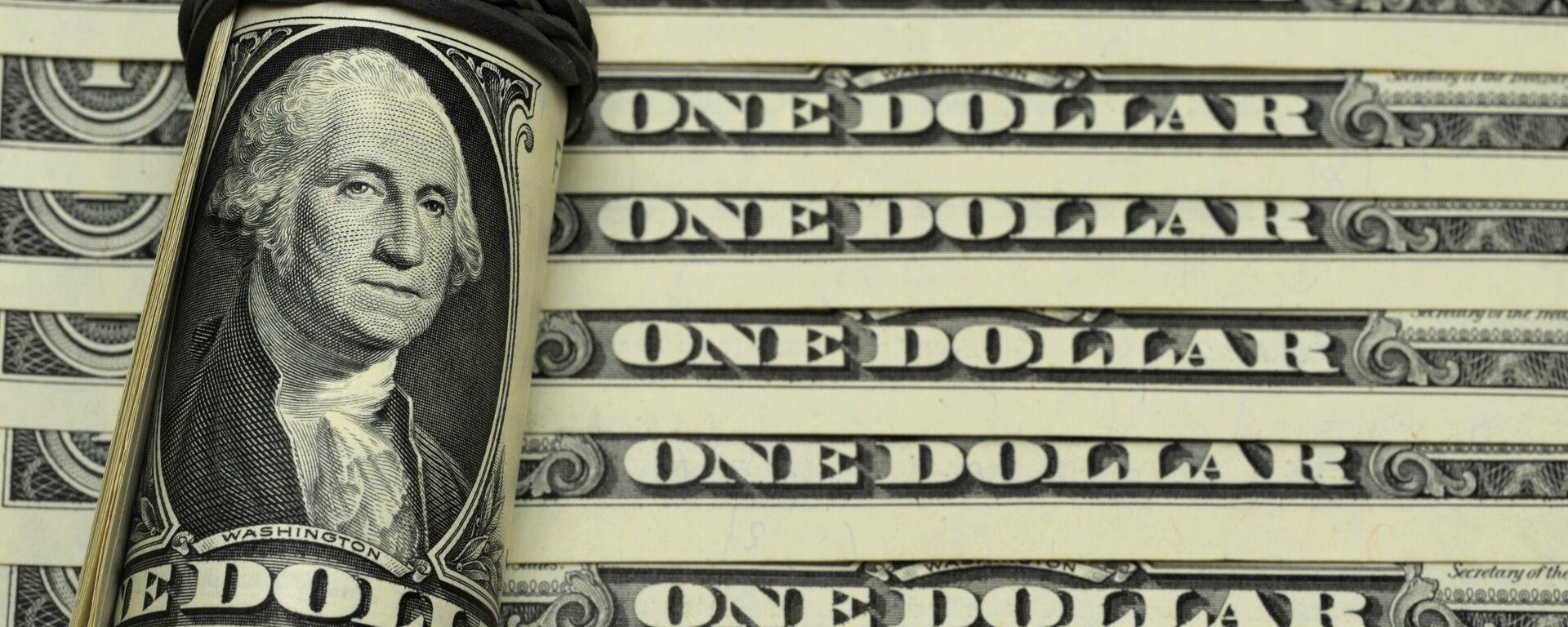 Los billetes de dólares de EEUU - Sputnik Mundo, 1920, 29.09.2021