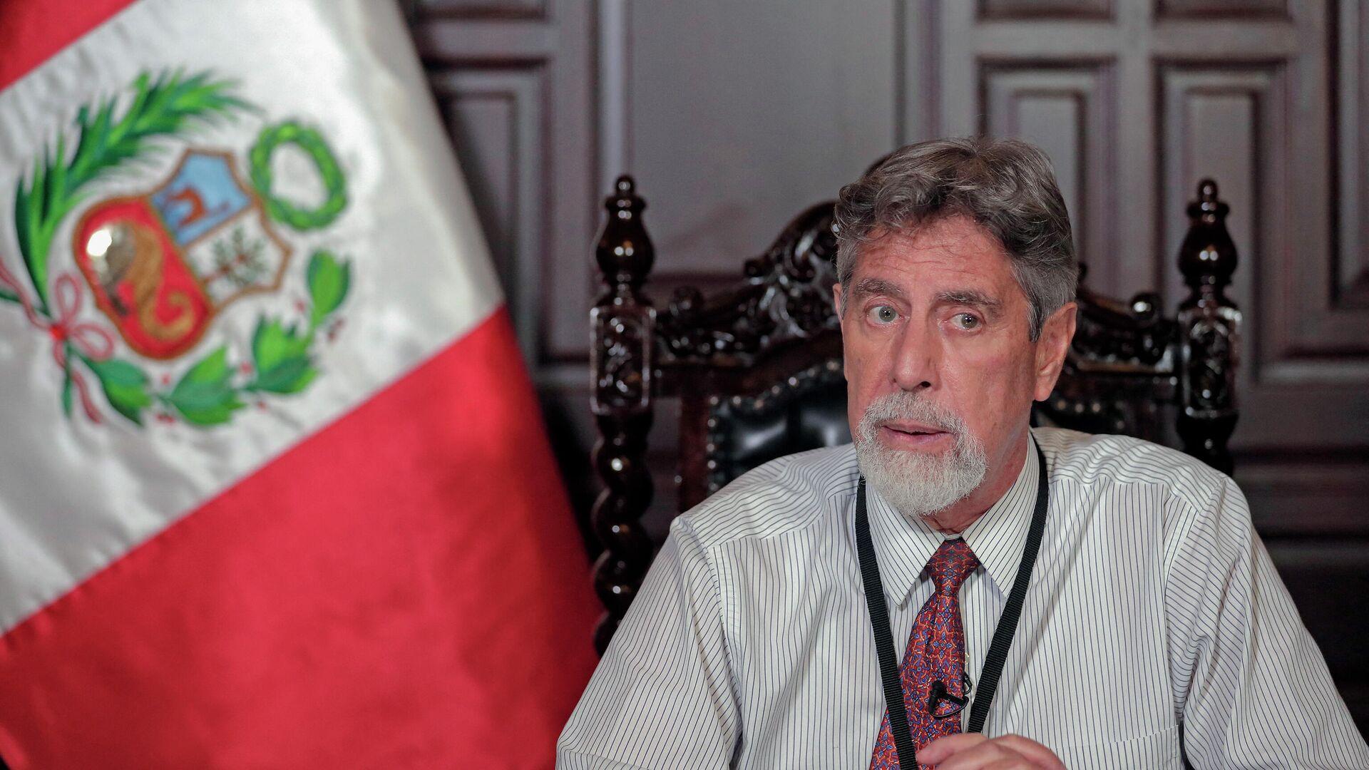 Francisco Sagasti, presidente de Perú - Sputnik Mundo, 1920, 24.09.2021