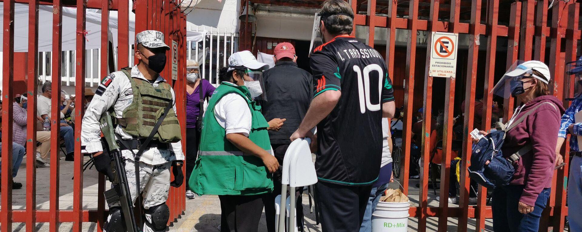 El primer día de vacunación masiva en México, el 15 de febrero de 2021 - Sputnik Mundo, 1920, 16.02.2021