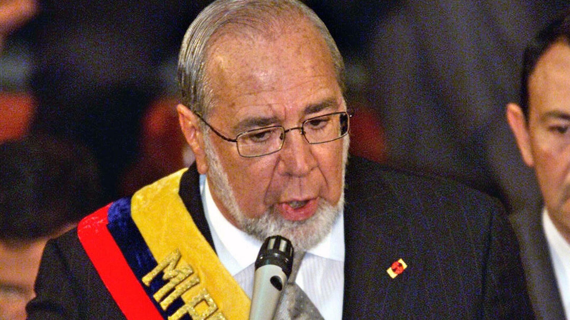 Gustavo Noboa, expresidente de Ecuador - Sputnik Mundo, 1920, 16.02.2021