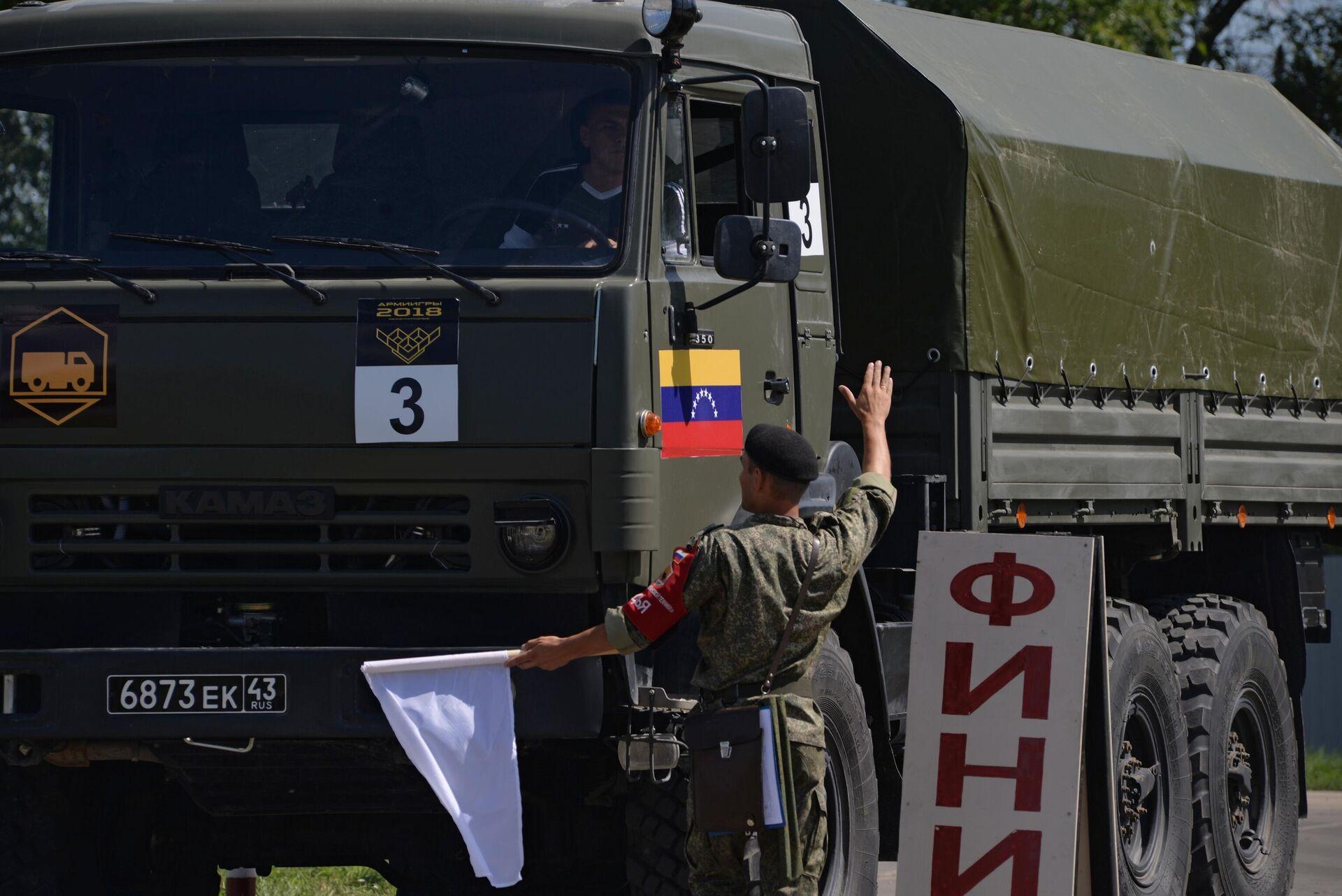 Un Kamaz venezolano en los Juegos Militares Army 2018 en Rusia - Sputnik Mundo, 1920, 18.02.2021
