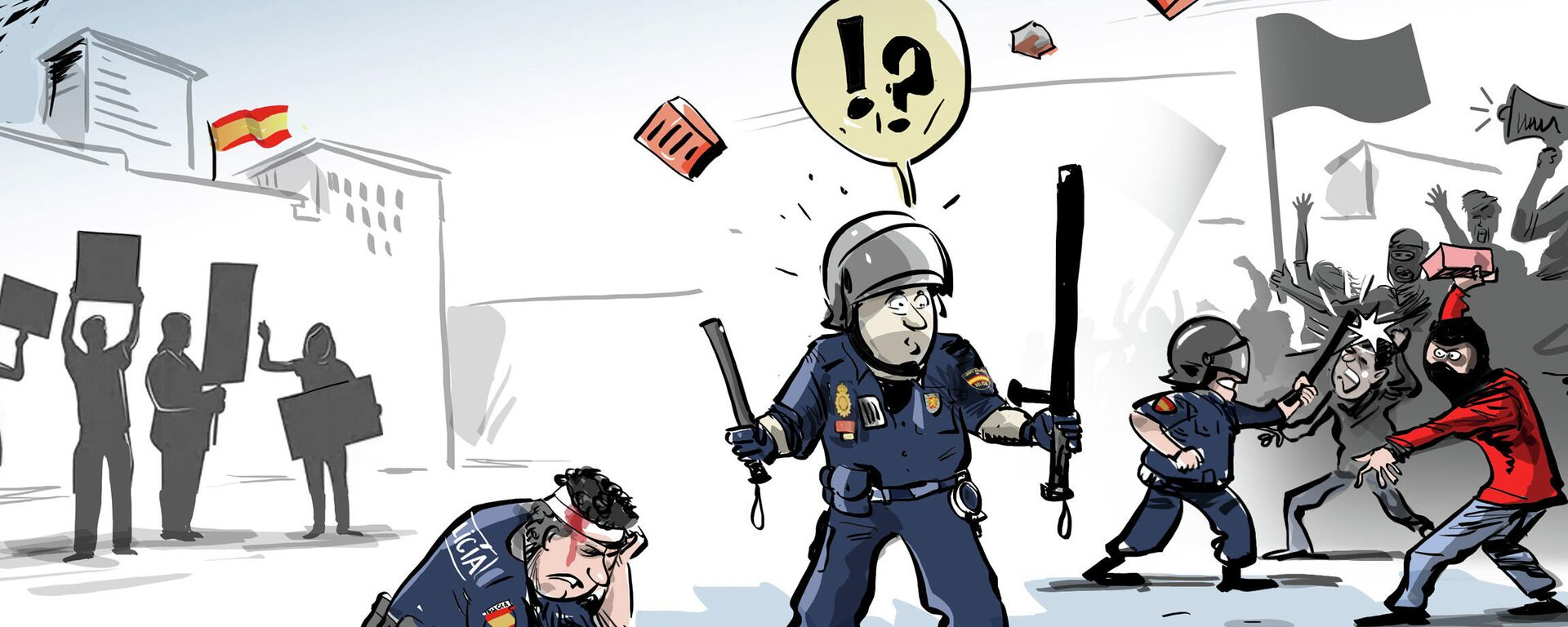 Protestas en España por el encarcelamiento de Pablo Hasél - Sputnik Mundo, 1920, 18.02.2021