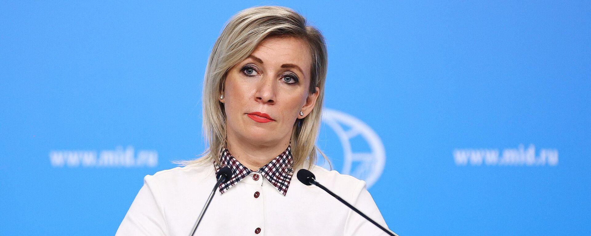 María Zajárova, portavoz del Ministerio de Asuntos Exteriores de Rusia - Sputnik Mundo, 1920, 19.02.2021