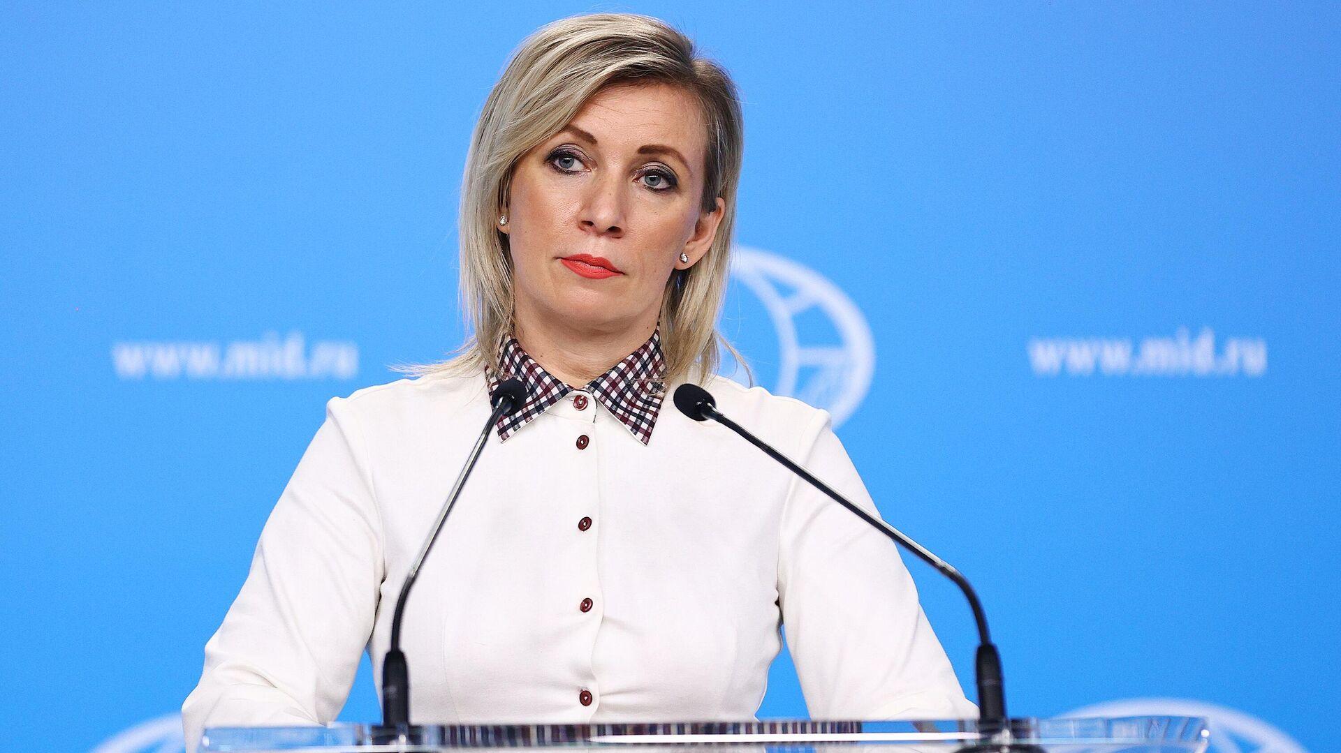 María Zajárova, portavoz del Ministerio de Asuntos Exteriores de Rusia - Sputnik Mundo, 1920, 10.10.2021