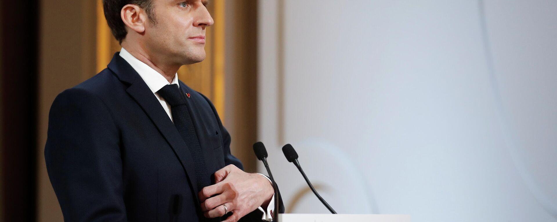 Emmanuel Macron, presidente de Francia - Sputnik Mundo, 1920, 21.02.2021