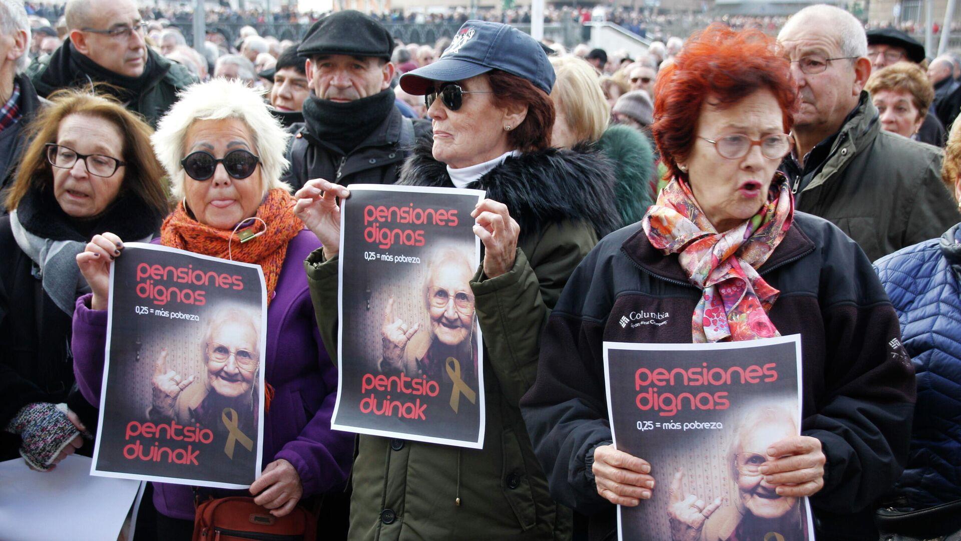 Manifestación de pensionistas en Bilbao - Sputnik Mundo, 1920, 24.02.2021