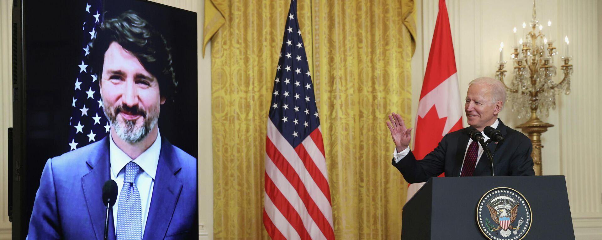 Reunión bilateral virtual entre Joe Biden y Justin Trudeau - Sputnik Mundo, 1920, 17.09.2021