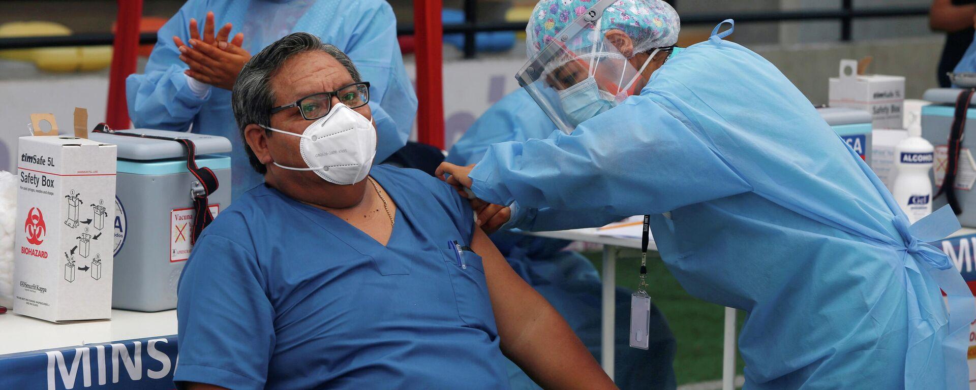 Vacunación en Lima, Perú - Sputnik Mundo, 1920, 15.03.2021