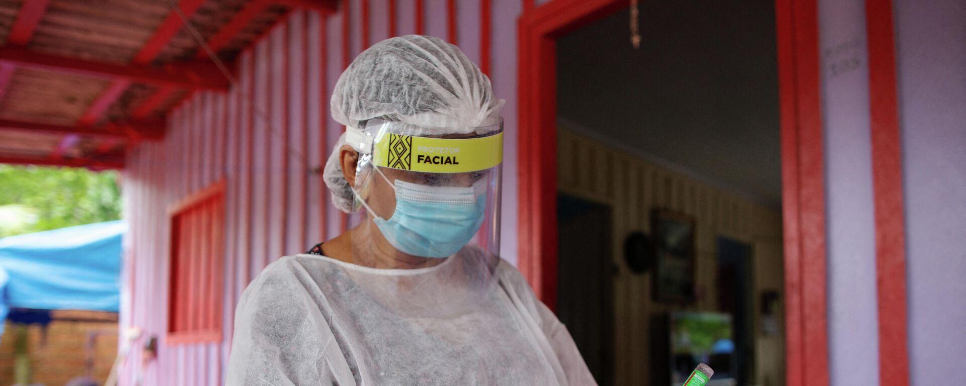 Una médica en Manaos, Brasil - Sputnik Mundo, 1920, 17.03.2021