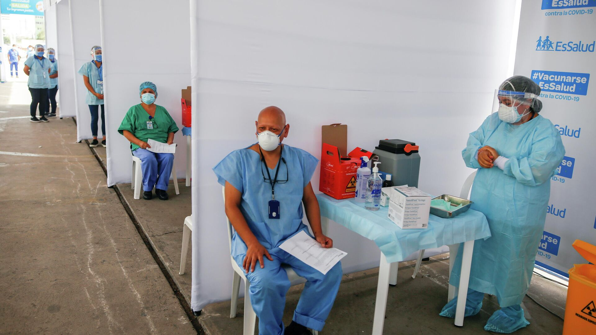 Vacunación contra COVID-19 en Lima, Perú - Sputnik Mundo, 1920, 04.03.2021
