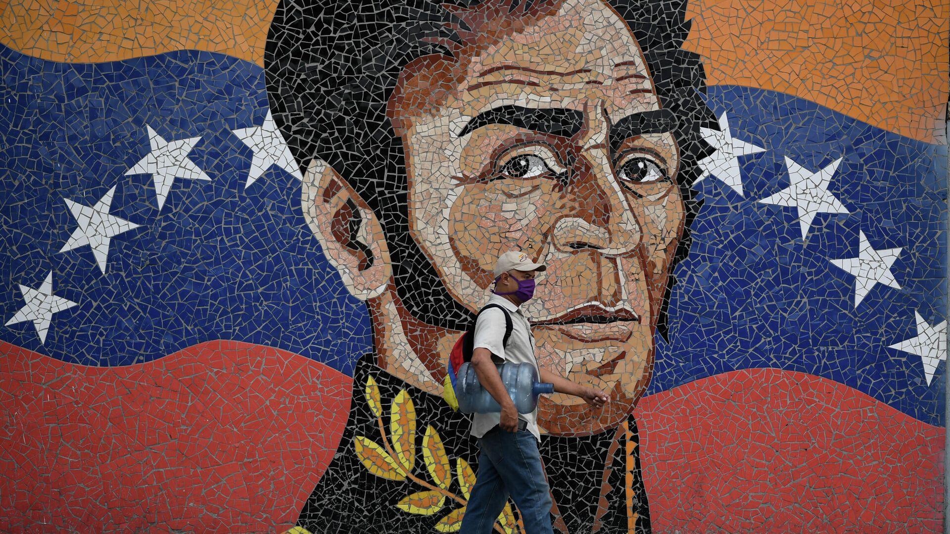 Mosaico de Simón Bolivar, en Caracas, Venezuela - Sputnik Mundo, 1920, 04.03.2021