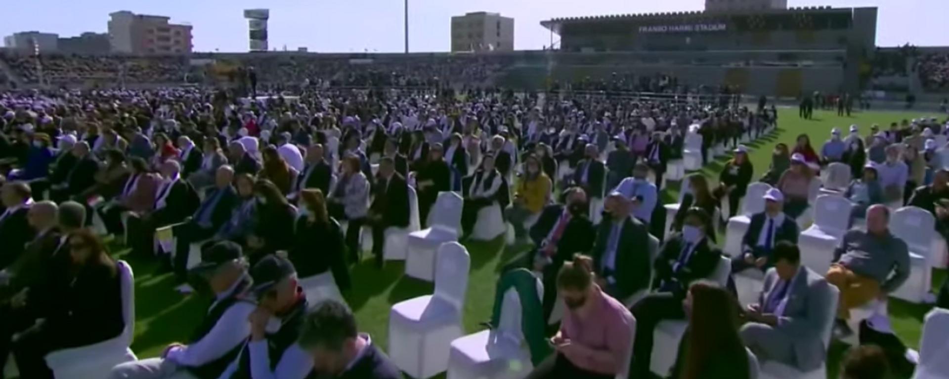 El papa Francisco celebra una misa en la ciudad iraquí de Erbil - Sputnik Mundo, 1920, 07.03.2021