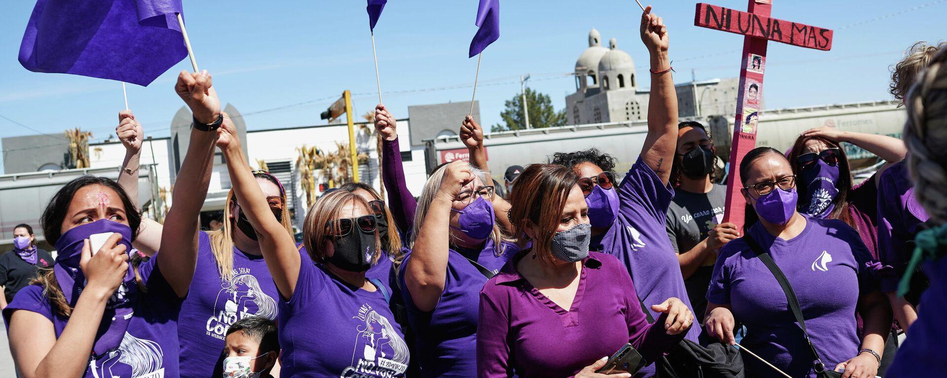 Manifestación del 8M en México - Sputnik Mundo, 1920, 08.03.2021