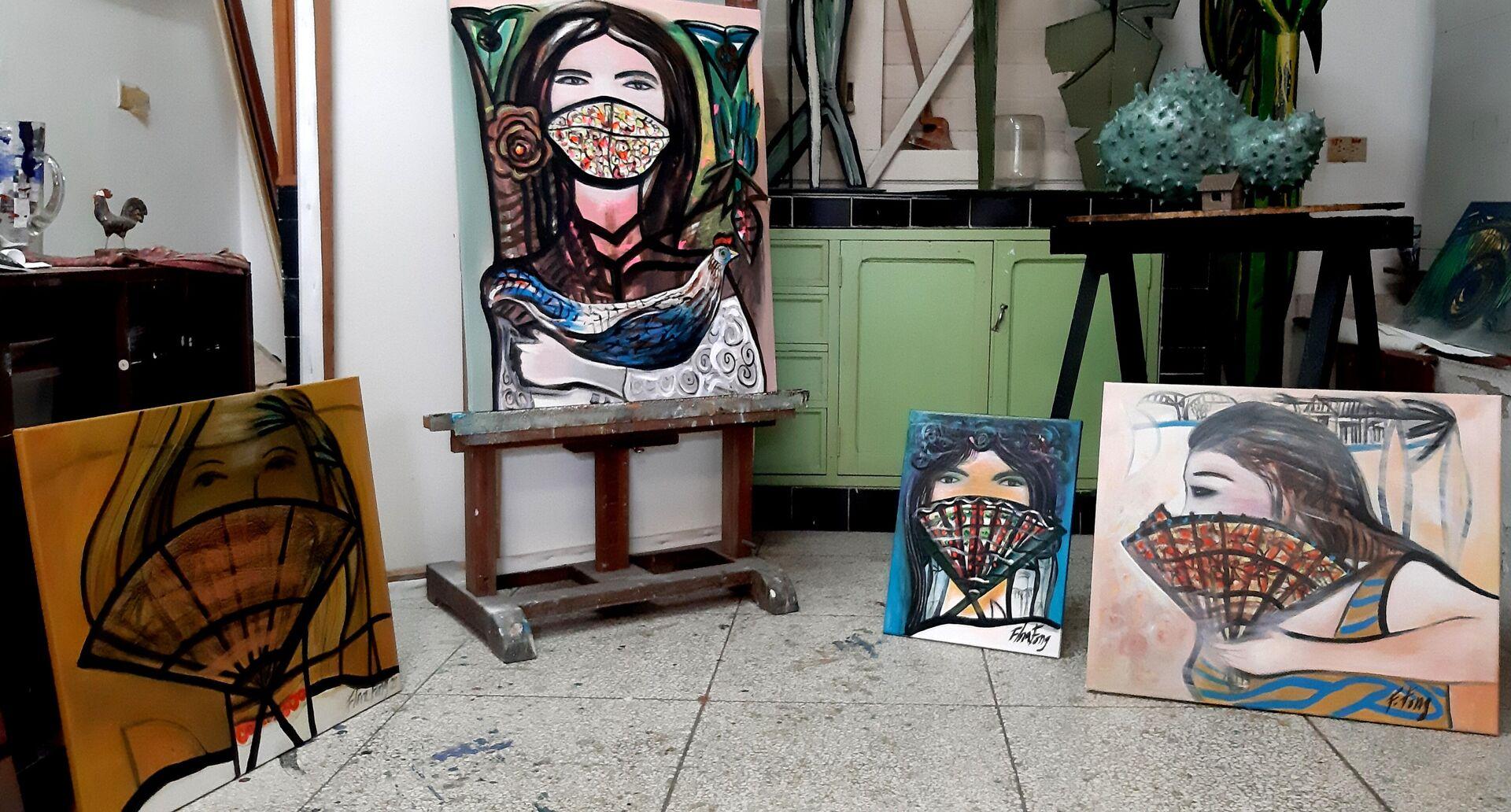 Serie 'Nasobuqueñas', inspirada en la mujer cubana y realizada por la pintora Flora Fong - Sputnik Mundo, 1920, 08.03.2021